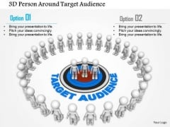 3d Person Around Target Audience PowerPoint Templates