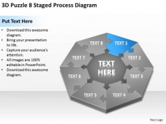 3d Puzzle 8 Staged Process Diagram Ppt Business Plan PowerPoint Templates