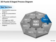 3d Puzzle 8 Staged Process Diagram Ppt How Make Business Plan PowerPoint Templates