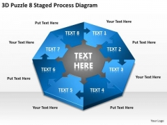 3d Puzzle 8 Staged Process Diagram Ppt Security Business Plan PowerPoint Slides
