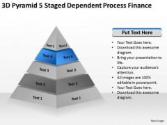 3d Pyramid 5 Staged Dependent Process Finance Ppt How To Make Business Plan PowerPoint Slides
