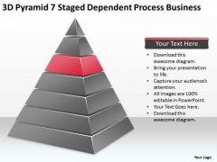3d Pyramid 7 Staged Dependent Process Business Ppt Consignment Plan PowerPoint Slides