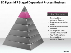 3d Pyramid 7 Staged Dependent Process Business Ppt Proposal Plan PowerPoint Templates