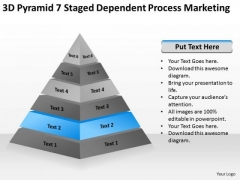 3d Pyramid 7 Staged Dependent Process Marketing Ppt Business Plan Experts PowerPoint Templates
