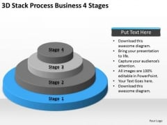 3d Stack Process Business 4 Stages Ppt Plans Online PowerPoint Slides