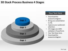 3d Stack Process Business 4 Stages Ppt Professional Plan PowerPoint Templates