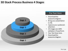 3d Stack Process Business 4 Stages Ppt Simple Plan PowerPoint Templates