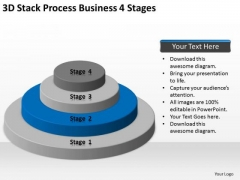 3d Stack Process Business 4 Stages Ppt Steps For Writing Plan PowerPoint Slides