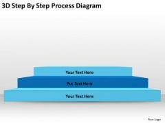3d Step By Process Diagram Ppt Writing Business Plan PowerPoint Slides