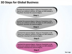 3d Steps For Global Business Best Plan Templates PowerPoint Slides