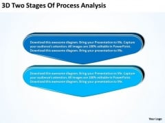 3d Two Stages Of Process Analysis Flowchart PowerPoint Freeware Templates