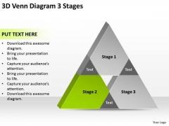 3d Venn Diagram Stages Ppt Business Plan PowerPoint Templates