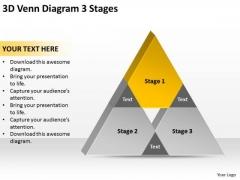 3d Venn Diagram Stages Ppt Non Profit Business Plan Template PowerPoint Slides