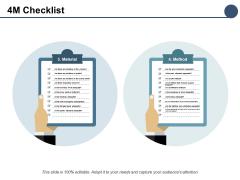 4M Checklist Business Management Ppt PowerPoint Presentation Ideas