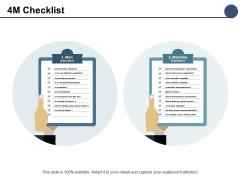 4M Checklist Marketing Ppt PowerPoint Presentation Pictures Inspiration