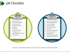 4M Checklist Template 1 Ppt PowerPoint Presentation Icon Graphic Images