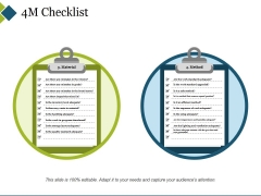 4M Checklist Template 2 Ppt PowerPoint Presentation Gallery Portfolio