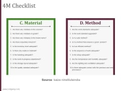 4m checklist template 2 ppt powerpoint presentation templates