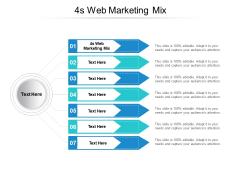4S Web Marketing Mix Ppt PowerPoint Presentation Portfolio Gridlines Cpb