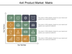 4x4 product market matrix ppt powerpoint presentation summary elements