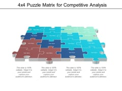 4x4 puzzle matrix for competitive analysis ppt powerpoint presentation outline graphics