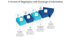 4 Arrows Of Negotiation With Exchange Of Information Ppt PowerPoint Presentation File Example PDF