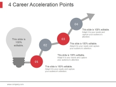 4 Career Acceleration Points Ppt PowerPoint Presentation Styles