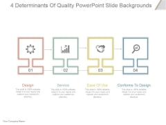 4 Determinants Of Quality Ppt PowerPoint Presentation Clipart
