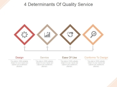 4 Determinants Of Quality Service Ppt PowerPoint Presentation Sample