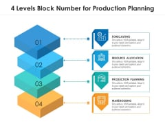 4 Levels Block Number For Production Planning Ppt PowerPoint Presentation File Slides PDF