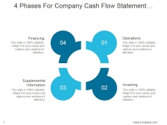 4 Phases For Company Cash Flow Statement Interpretation Ppt PowerPoint Presentation Infographics