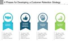 4 Phases For Developing A Customer Retention Strategy Ppt PowerPoint Presentation Model Maker