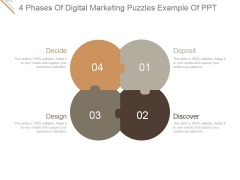 4 Phases Of Digital Marketing Puzzles Ppt PowerPoint Presentation Background Images