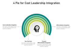 4 Pie For Cost Leadership Integration Ppt PowerPoint Presentation Layouts Topics PDF