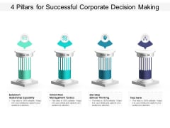4 Pillars For Successful Corporate Decision Making Ppt PowerPoint Presentation Infographics Guide PDF