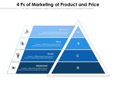 4 Ps Of Marketing Of Product And Price Ppt PowerPoint Presentation Gallery Good PDF