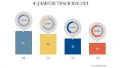 4 Quarter Track Record Ppt PowerPoint Presentation Slide Download
