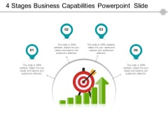 4 Stages Business Capabilities PowerPoint Slide Ppt PowerPoint Presentation File Styles PDF