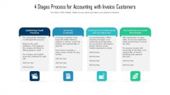 4 Stages Process For Accounting With Invoice Customers Ppt Slides Example Topics PDF