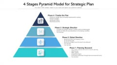 4 Stages Pyramid Model For Strategic Plan Ppt Slides Diagrams PDF