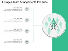 4 Stages Team Arrangements Ppt Slide Ppt PowerPoint Presentation Show Graphics Example PDF