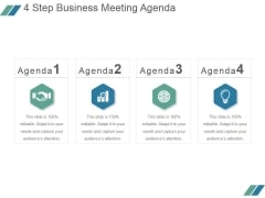 4 Step Business Meeting Agenda Ppt PowerPoint Presentation Rules