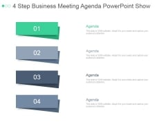 4 Step Business Meeting Agenda Ppt PowerPoint Presentation Visuals