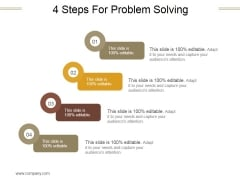 4 Steps For Problem Solving Ppt PowerPoint Presentation Layouts