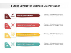 4 Steps Layout For Business Diversification Ppt PowerPoint Presentation Infographics Maker PDF
