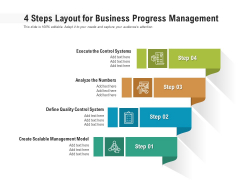4 Steps Layout For Business Progress Management Ppt PowerPoint Presentation Icon Good PDF