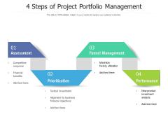 4 Steps Of Project Portfolio Management Ppt PowerPoint Presentation File Graphics Download PDF