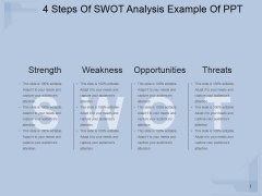 4 Steps Of Swot Analysis Ppt PowerPoint Presentation Portfolio