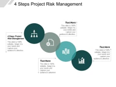 4 Steps Project Risk Management Ppt PowerPoint Presentation Summary Ideas Cpb