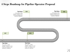 4 Steps Roadmap For Pipeline Operator Proposal Ppt PowerPoint Presentation Layouts Layouts